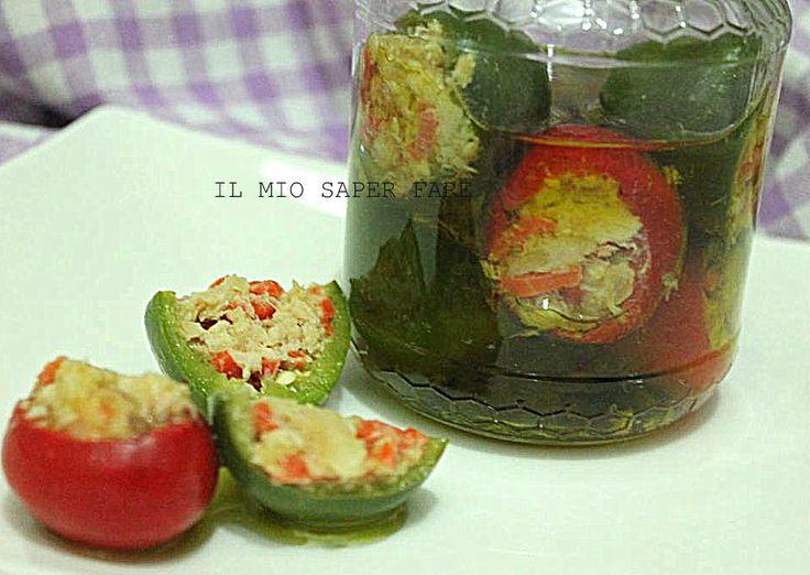 Peperoncini ripieni sott'olio |conserva di stagione
