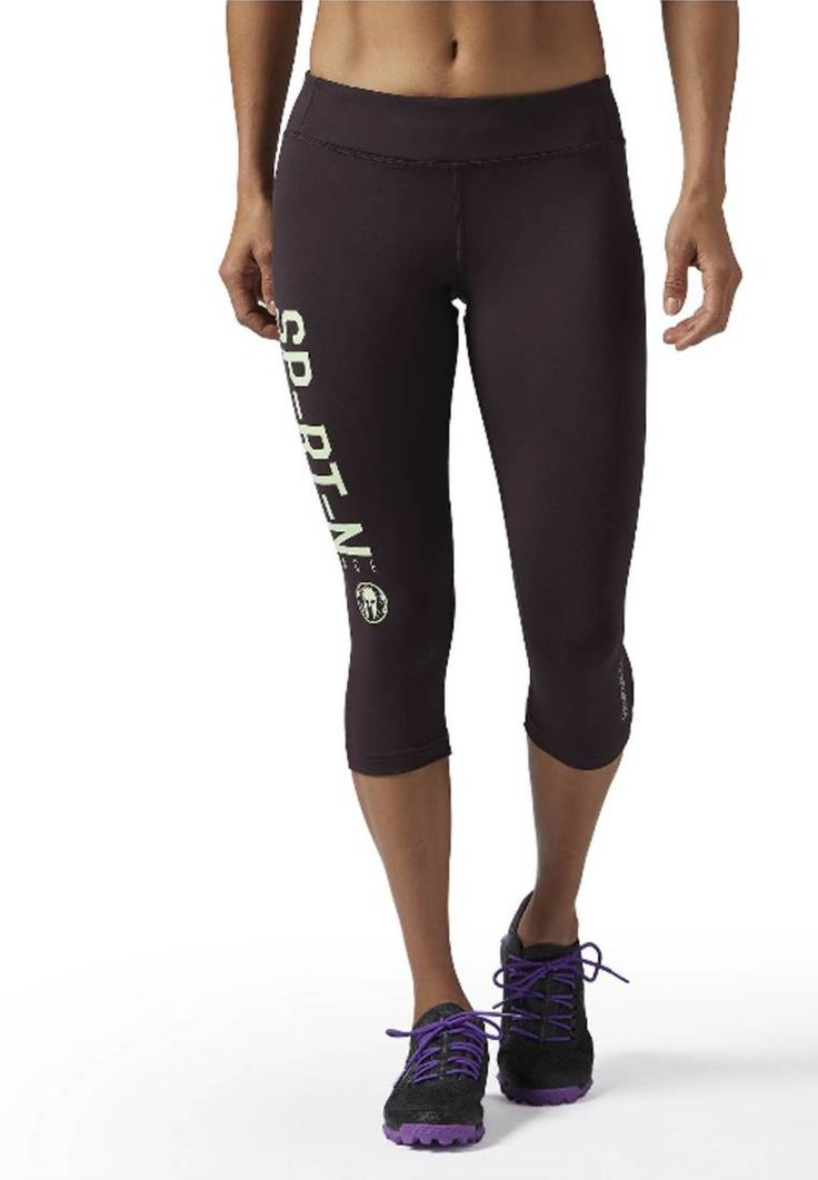 Reebok. SPARTAN RACE - Tights - purple. Outer fabric material:90% polyester