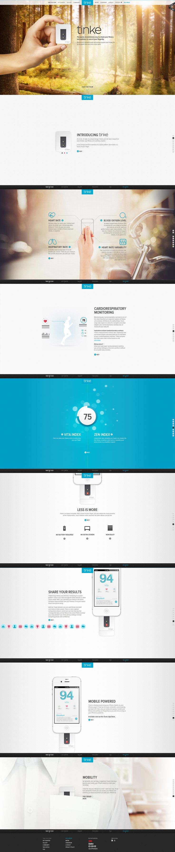 #webdesign #product #onepage #Interaction #UI