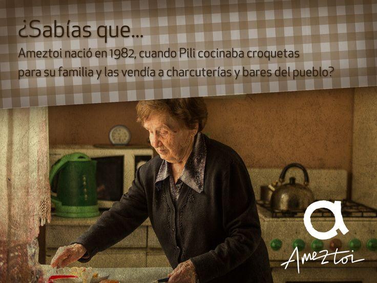 ¿Sabías que Ameztoi nació en 1982, cuando Pili cocinaba croquetas para su familia y las vendía a charcuterías y bares del pueblo? #Ameztoi