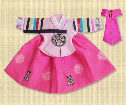 1st Birthday Girl Pink Palace Hanbok
