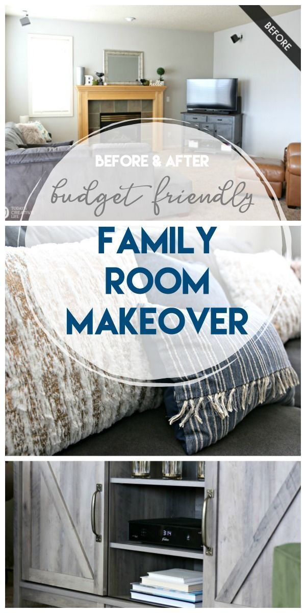 Family Room Ideas On A Budget Family Room Makeover Trendy Home