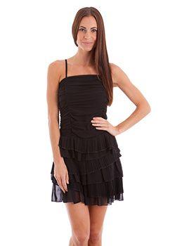 Black Ruffled Dress-$33.15