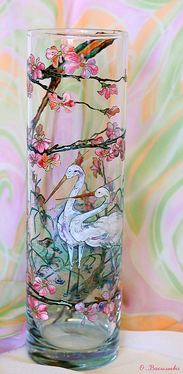 glass painting  #Spring