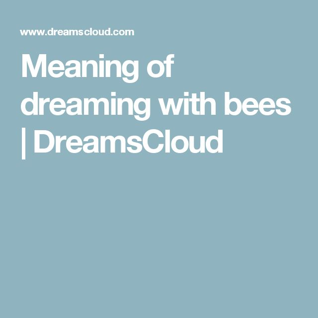 Meaning of dreaming with bees | DreamsCloud