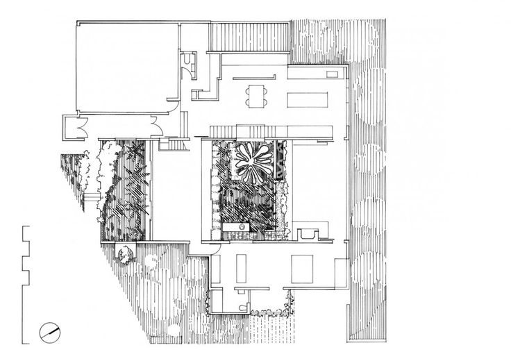 Floor plan with landscape linework // Z House // Donovan Hill