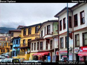 Bursa Tophane historic mansions.