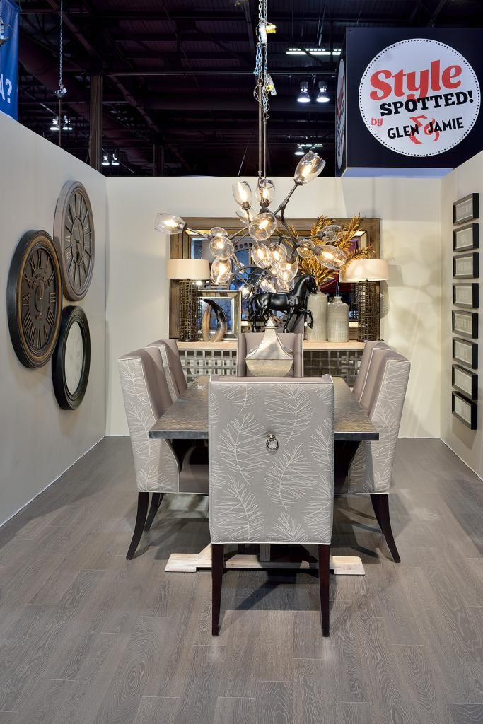 Design space shown at the 2014 National Home Show in Toronto, ON. #design #GlenandJamie #furniture #homeshow #art #dining #stylespotted