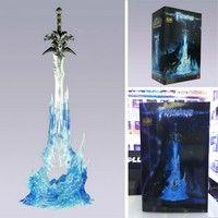 Wish | World of Warcraft Frostmourne Lichking Sad Sword Figure Blue Light with Box 28CM