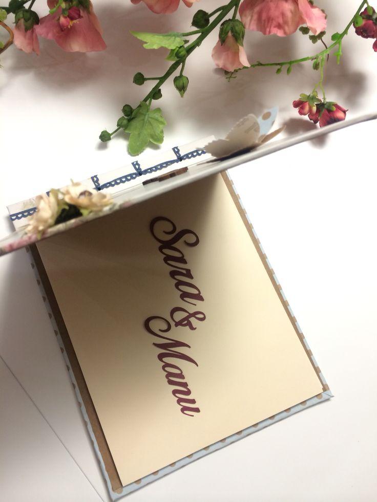 Wedding book. Handmade with love. Scrap