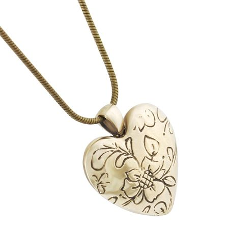 78 best heart urns cremation jewelry for ashes images on pinterest floral heart pendant for ashes bronze by madelyn aloadofball Gallery