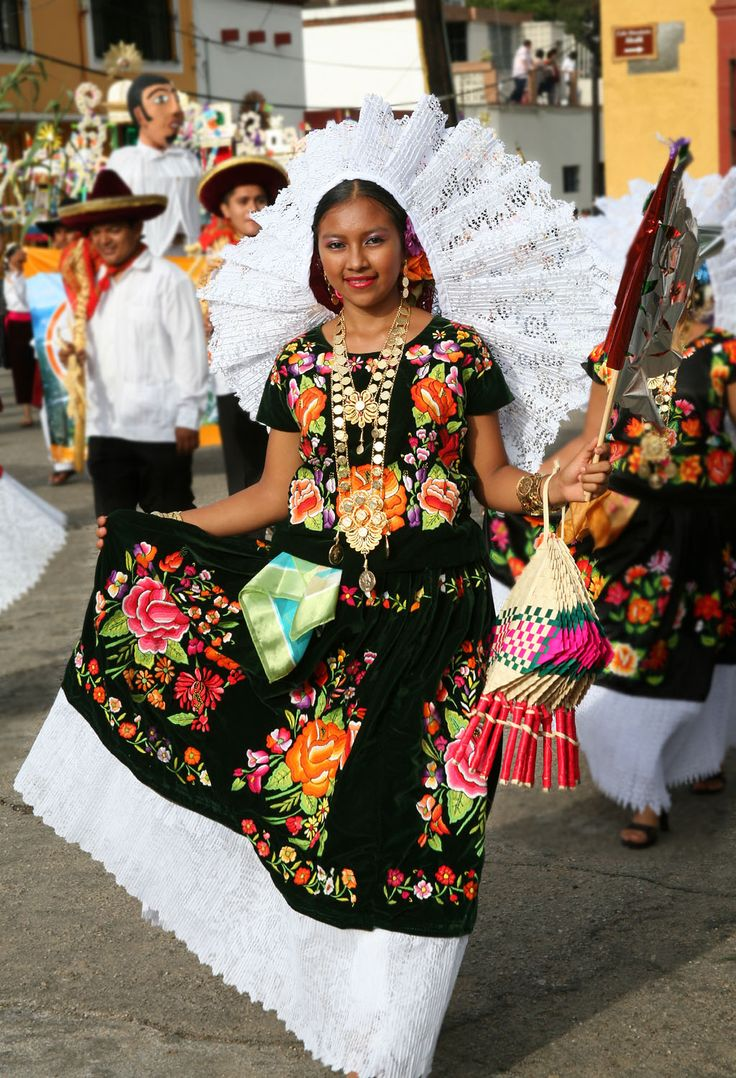 Oaxaca Mexico traditional festive dress