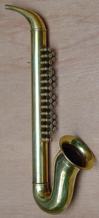 Vreemd instrument: een Goofus.
