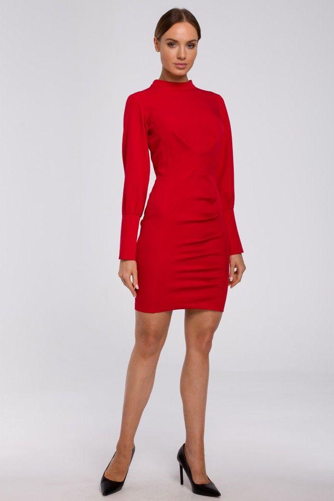 Sukienka Mini Ze Stojka W Kolorze Czerwonym Dresses For Work Dresses Fashion
