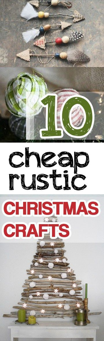 Rustic Christmas Crafts, Craft Ideas, Crafts For Christmas, Popular Pin, Holiday Decor, DIY Holiday Decor, Crafts for Christmas.