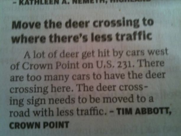 HAHAHAHA... really... really?: Indiana, Ideas, Signs, Jokes, Crowns, Funny Pictures, Some People, Funny Stuff, Deer Crosses