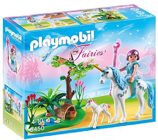 PLAYMOBIL Fairies - As fadas – Fada Aquarella com unicórnios - 5450