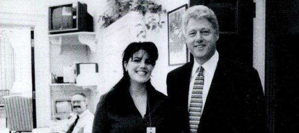 Билл Клинтон и Моника Левински.  #история история Америки