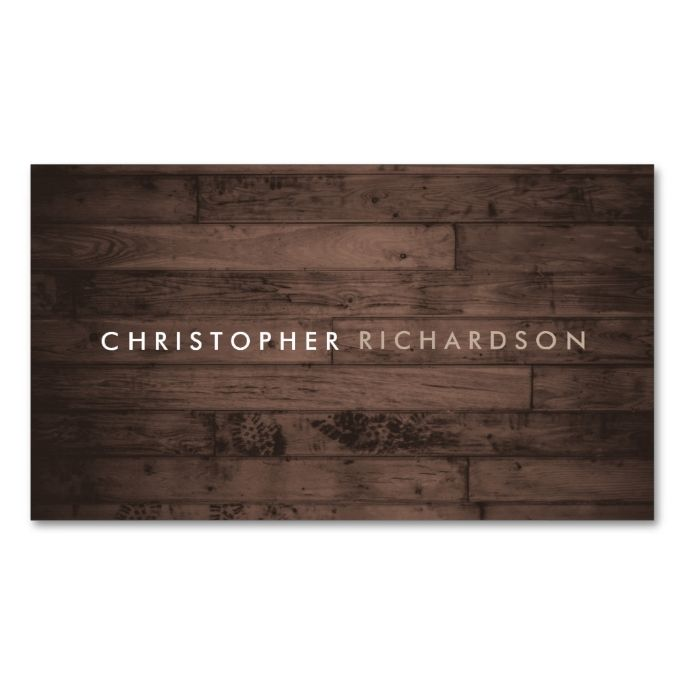 MODERN and MINIMAL on RUSTIC BROWN WOOD Double-Sided Standard Business Cards (Pack Of 100). This great business card design is available for customization. All text style, colors, sizes can be modified to fit your needs. Just click the image to learn more!