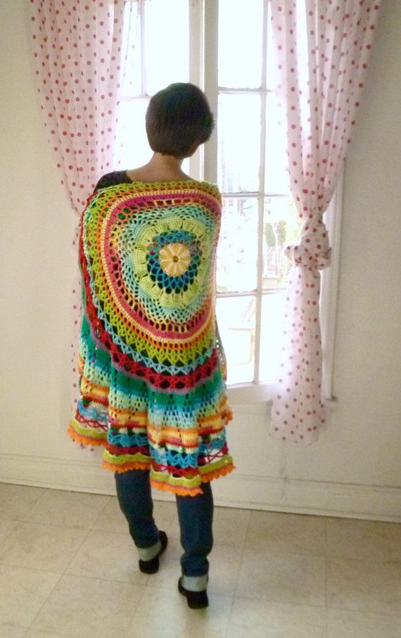 Crochet Circle : Crochet, Crochet shawl and Circles on Pinterest
