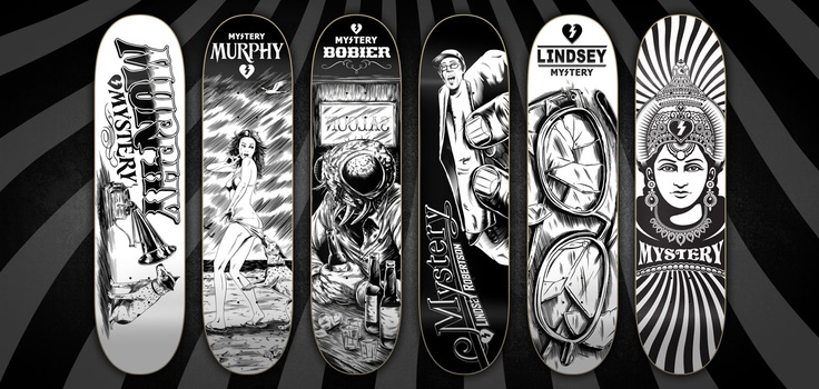 More Mystery Skateboard decks