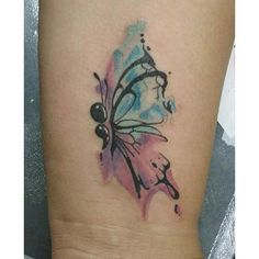 #watercolor #watercolorbutterfly #watercolortattoo #butterfly #butterflytattoo…