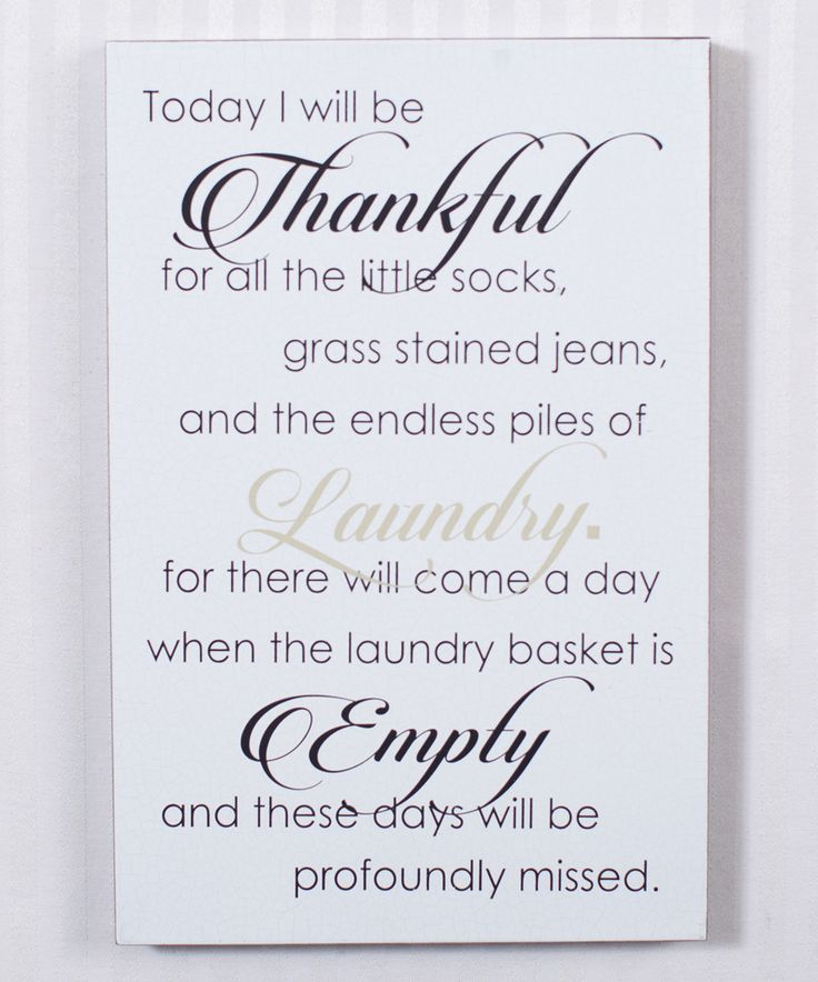 This Fancy 'Today I Will Be Thankful' Laundry Room Wall Sign by Adams & Co. is perfect! #zulilyfinds