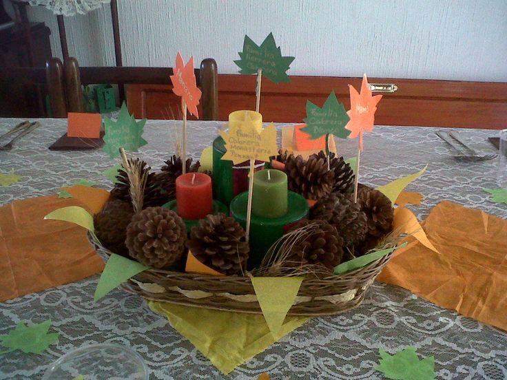 Centro de mesa para Acción de Gracias.