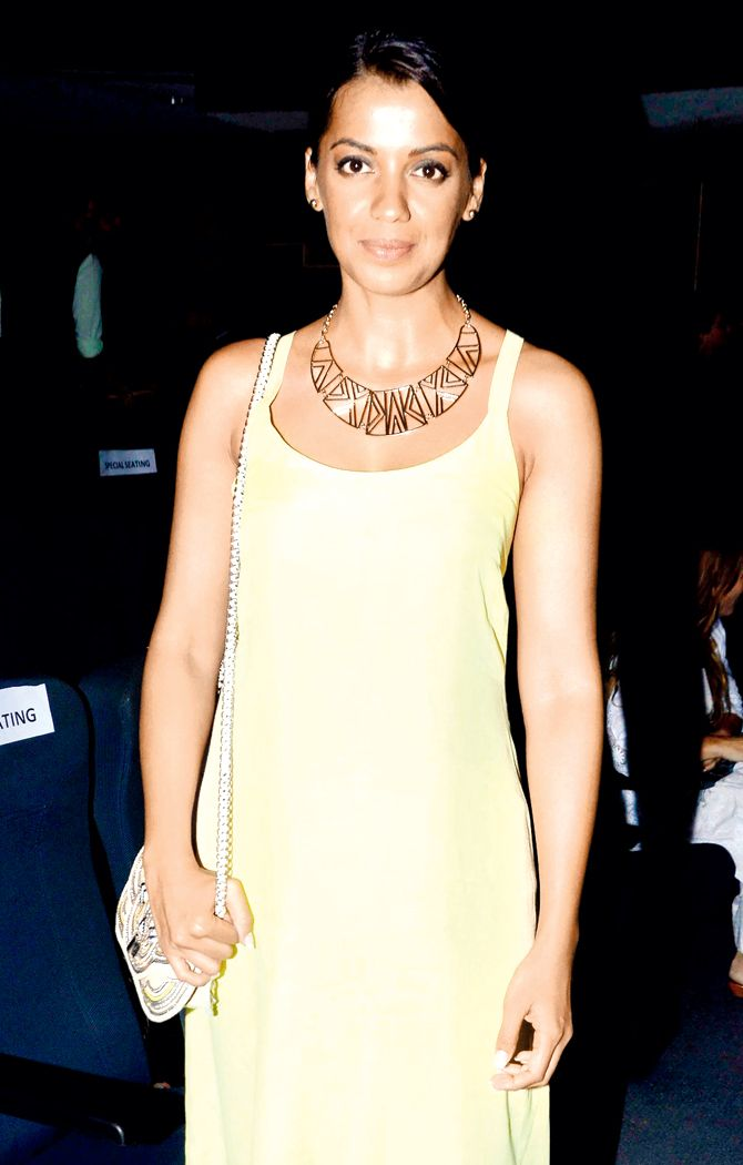 Mugdha Godse enjoying a play which depicted the rights of the LGBT community. #Bollywood #Fashion #Style #Beauty #Hot