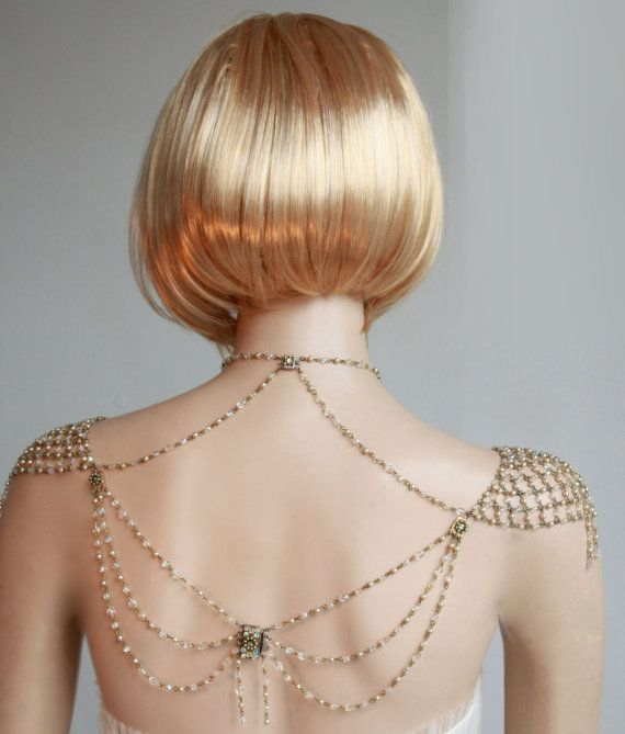Necklace For The SHOULDERS 1920s Inspiration by #mylittlebride...Ooh and it has a back. #Fashion #Gown
