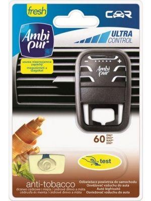 MBI PUR 7ml Car Anti Tobacco odswieżacz powietrza do samochodu + zapach  • neutralizuje nieprzyjemne zapachy i pozostawia świeży • naturalny zapach drzewa cedrowego i mięty • zmienia nieprzyjemne zapachy w oczyszczajaca swiezosc 60dni