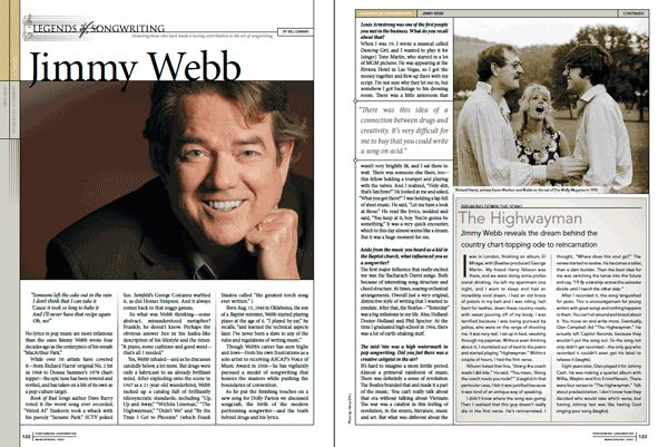 Jimmy Webb reveals the story behind the country ode to reincarnation that Johnny Cash, Waylon Jennings, Willie Nelson and Kris Kristofferson took to the top of the charts.