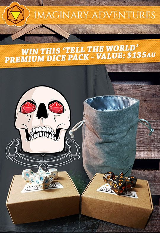 #Giveaway #Win ~12 hours left! an awesome Dice Pack from Imaginary Adventures, a new Australian online dice store! https://wn.nr/X8pR8m
