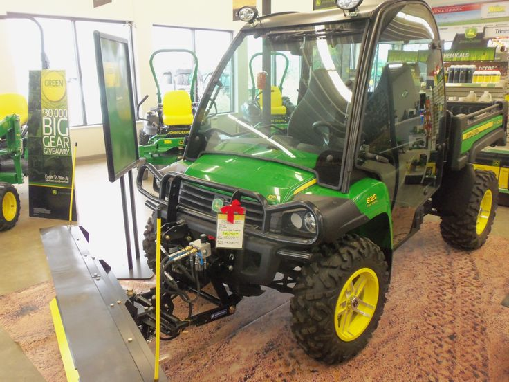 John Deere Gator Plow >> John Deere Gator 825i with cab | John Deere equipment | Pinterest