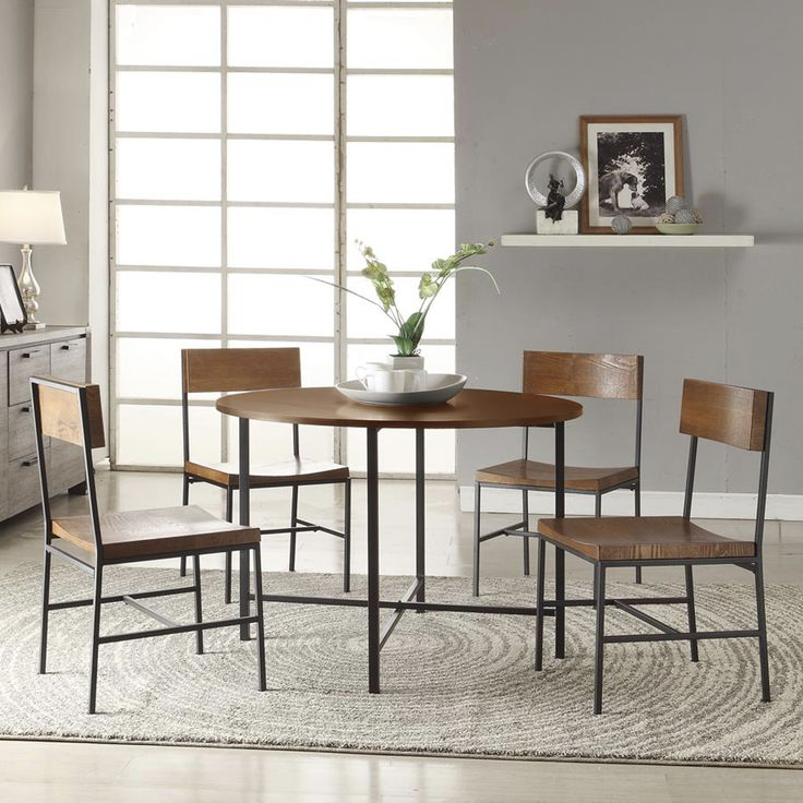 42 inch round lakeland dining table set tables home and dining sets. Black Bedroom Furniture Sets. Home Design Ideas
