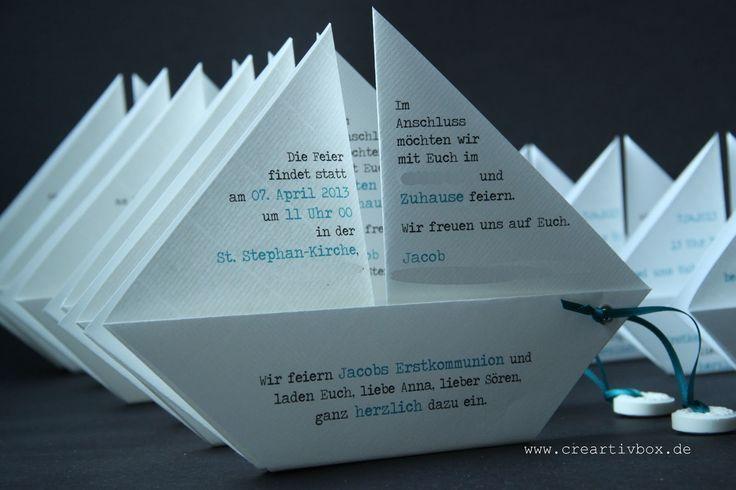 Heute zeigen wir Euch unsere Papier.Boot-Einladung in Reinform. Das ist nicht ga