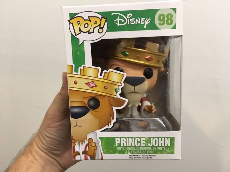 Funko Pop Disney Platinum and Gold PRINCE JOHN #98 free shipping 2 pop protector #Funko