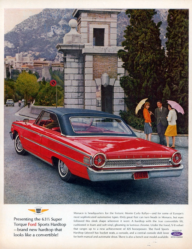 Auto Brochure. Ford GalaxieCollectible CarsCar AdvertisingVintage ...