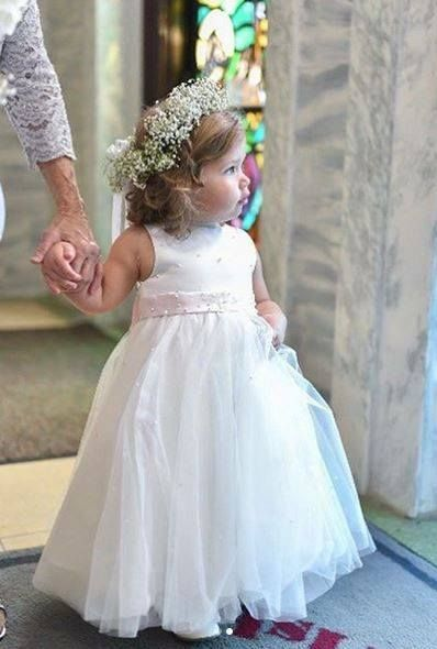 f32fbf67649 How could we not share this cute real wedding snap from last May! Emma  Bridals flowergirl dress style EB12390. Repost  jaywestbridal