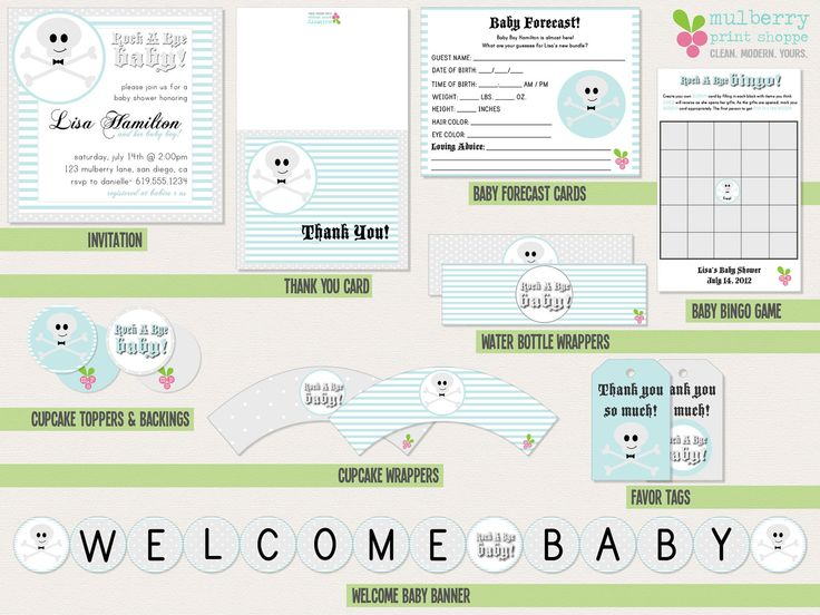 Rock A Bye Baby- Baby Shower Package. $38.00, via Etsy.