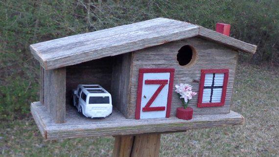 Rustikale Cedar Bluebird Bungalow Birdhouse von SwampwoodCreations