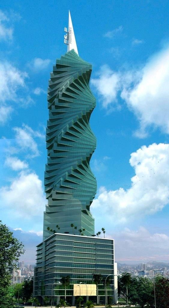 This is #Panama's famous corkscrew building. I think everyone we take to the airport has us slow down to take a picture of it! The locals call it El Revolution! www.panamaroadrunner.com