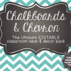 Chalkboard and Chevron, Oh My! EDITABLE Old School Classroom Decor Pack - Mrs Dixon
