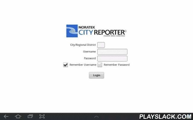 CityReporter Tablet  Android App - playslack.com ,  City Inspection SoftwareCityReporter™ mobile inspection tools solve the most pressing concerns of inspectors, administrators, and technical support staff with a seamless, integrated, paperless solution.CityReporter™ is a collection of productivity inspection tools for:• Building inspections• Park inspections• Facility inspections• Sports field inspections• Road inspections• Sidewalk inspections• With ongoing development to meet the needs of…