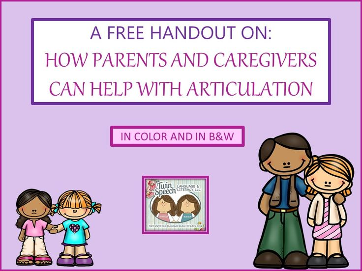 how to help a child with speech articulation problems Speech disorders affect the way a person to diagnose speech disorders denver articulation various exercises to assess the child's speech.