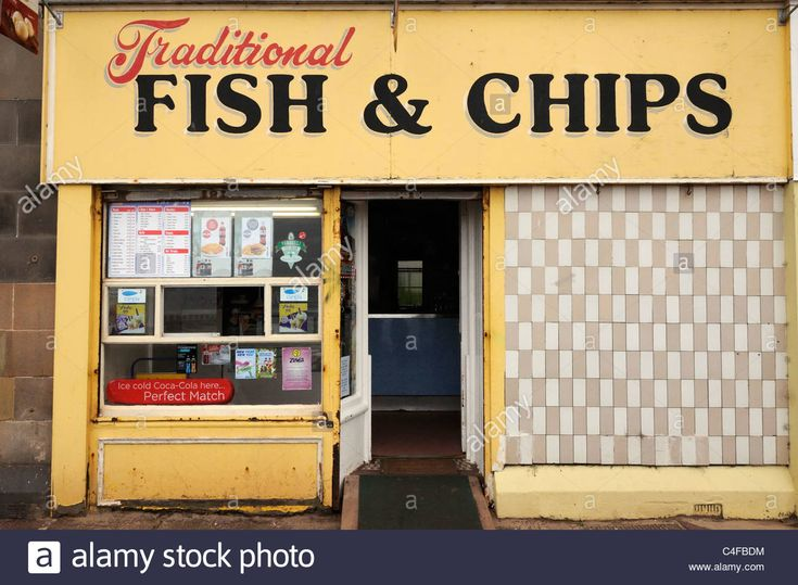 Download this stock image traditional fish and chip shop
