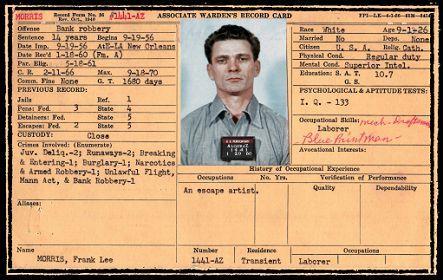 Frank Lee Morris - Alcatraz Inmate # 1441