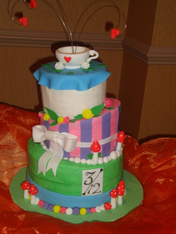 The 9 Best Cakes Images On Pinterest Mad Hatter Tea Anniversary