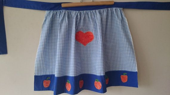 Check out this item in my Etsy shop https://www.etsy.com/listing/273724258/half-apron-apron-blue-apron-pretty-apron