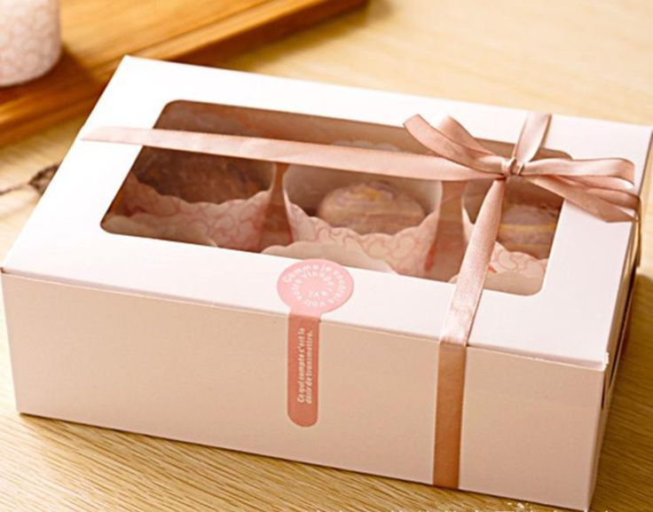 6 holes paper muffin cupcake bakery packing box case with